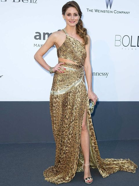 "<p><a href=""http://www.elleuk.com/star-style/celebrity-style-files/olivia-palermo"">Olivia Palermo</a> ensures she's a standout in signature Roberto Cavalli leopard silk.</p>"