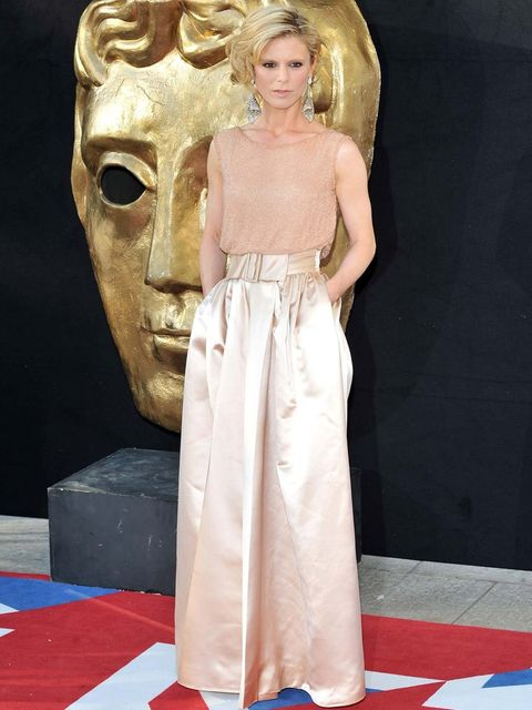 <p>Emilia Fox attends the 2012 BAFTA Television Awards wearing William Vintage</p>
