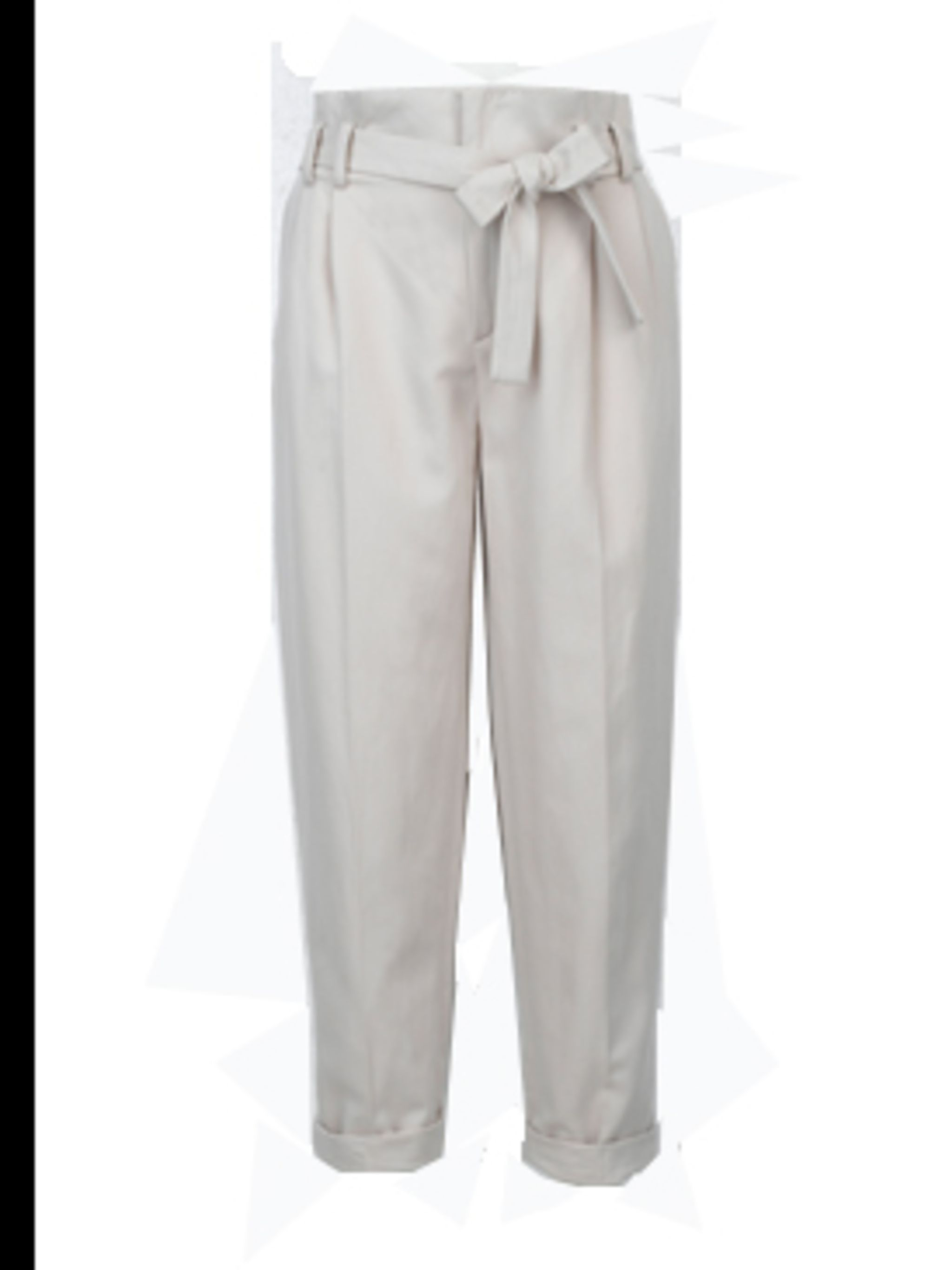 <p>High waisted bow trousers, £39.90, by Zara. For stockists call 0207 534 9500</p>