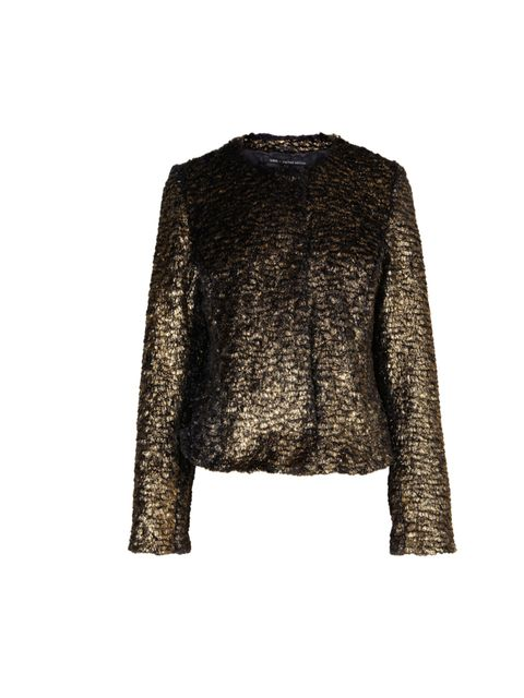 "<p>It's that time of year again, when your sartorial compass turns to shiney, luxe pieces to take you from party season right through to Christmas festivities... Oasis gold print jacket, £85</p><p><a href=""http://shopping.elleuk.com/browse?fts=oasis+gold+"