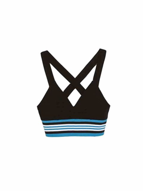 "<p>Dare to bare, with this sporty crop top.</p><p><a href=""http://www.zara.com/uk/en/woman/t-shirts/cropped-sporty-top-c358008p1769606.html"">Top Zara £19.99</a></p>"