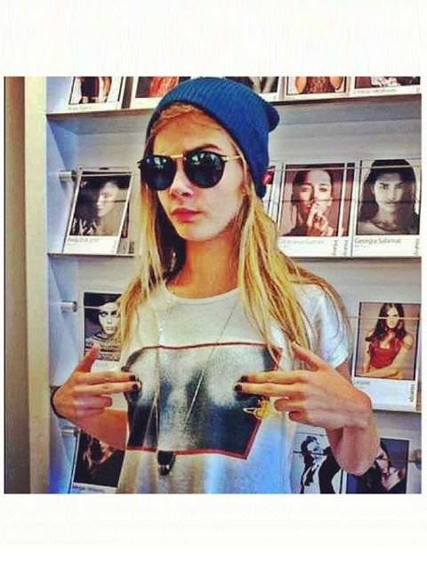 """<p><strong>Who?</strong> Cara Delevigne, model, sister of Poppy, proprietor of the most enviable eyebrows in the fashion world.</p><p><strong>Where?</strong> <a href=""""http://iamcaradelevingne.tumblr.com"""">iamcaradelevingne.tumblr.com</a> / <a href=""""@Carade"""