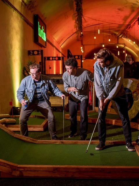 <p>POP-UP: Birdies Crazy Golf</p>  <p>Crazy golf. As anyone who spent their childhood holidays desperately trying to putt a neon golf ball up a volcano knows, it is surely one of our nation's finest contributions to the sporting world. Only now it's hippe