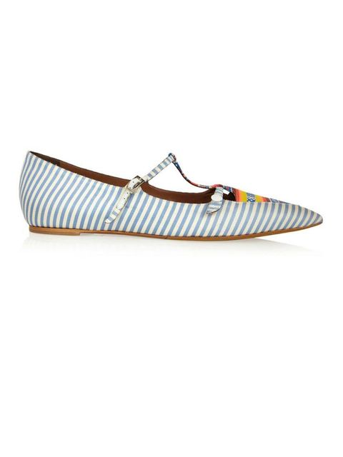 "<p>Peruvian vibes . .</p><p>Stripe flats £485 by Tabitha Simmons from <a href=""http://www.net-a-porter.com/product/401800/Tabitha_Simmons/heart-striped-silk-twill-point-toe-flats"">Net-a-Porter</a></p>"