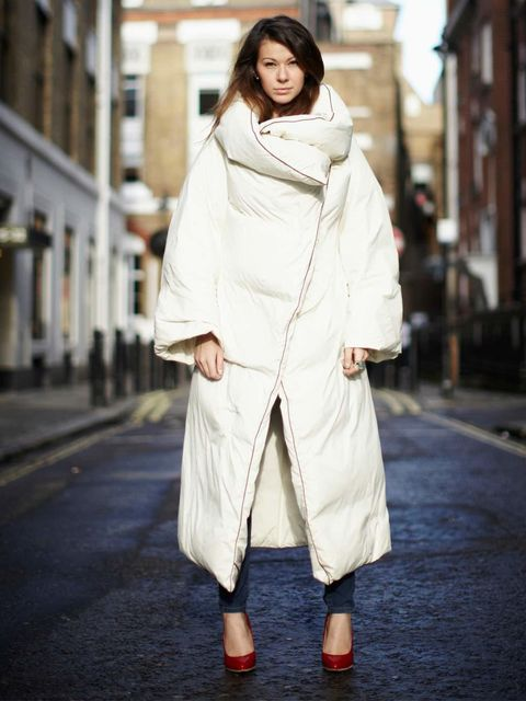 <p>Julia Shutenko ELLE Fashion Intern:</p><p>Maison Martin Margiela with H&amp&#x3B;M duvet coat, Zara jeans, Maison Martin Margiela with H&amp&#x3B;M red plexi wedge shoes</p>