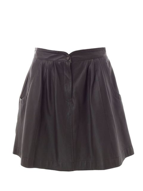 <p>Whistles brown leather skirt, £175, for stockists call 0845 899 1222</p>