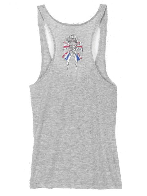 <p>Alison Vincent's design on a grey Reiss vest.</p>