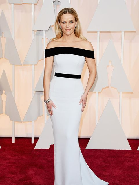 Reese Witherspoon, in Tom Ford, attends the 2015 Academy Awards in LA.