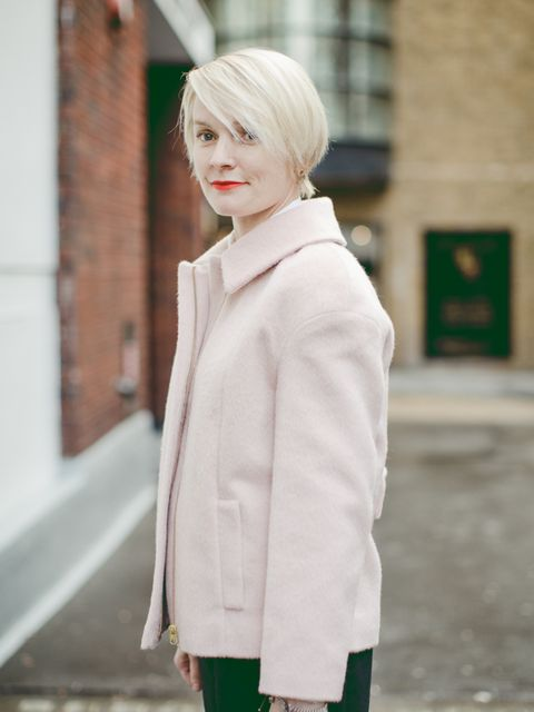Lorraine Candy – Editor in Chief. Marks & Spencer coat, Chalayan skirt.