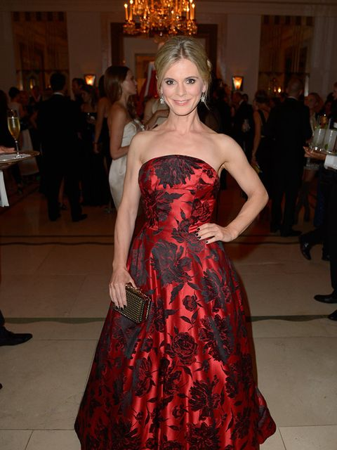 <p>Emilia Fox attends the WilliamVintage Dinner during London Fashion Week, September 2015.</p>