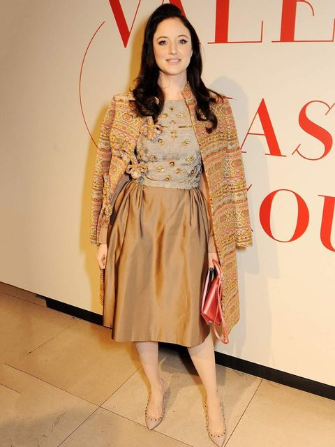 <p>Andrea Riseborough at the Valentino exhibition opening at Somerset house in London, November 2012.</p>