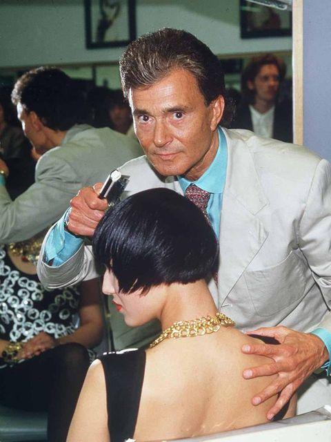 <p>Vidal Sassoon in 1988</p>