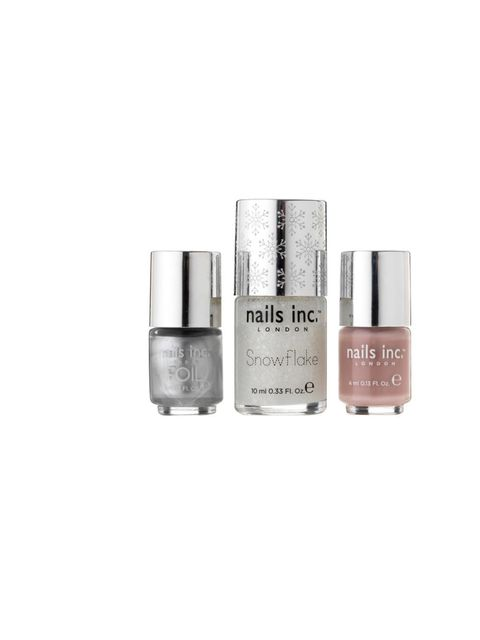 "<p><a href=""http://www.theukedit.com/nails-inc.-snowflake-collection-limited-edition/10847413.html"">Nails Inc. Limited Edition Snowflake Collection</a>, £15</p>"