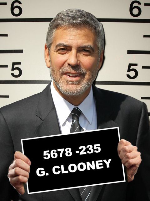 <p>George Clooney's mugshot as imagined by ELLE.com</p>