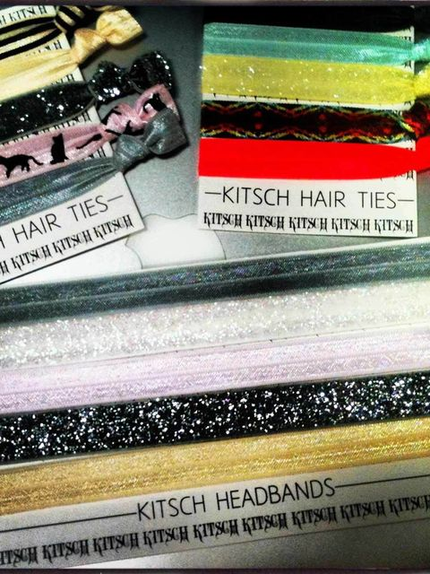 "<p>For the prettiest, blingiest ponytail in the office, look no further than these sparkly <a href=""http://www.mykitsch.com/hair-ties/"">Kitsch</a> hair ties.</p>"