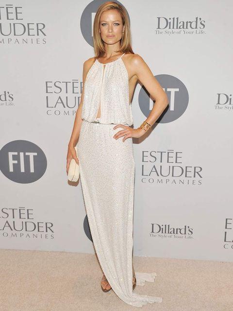 <p>Carolyn Murphy at the FIT gala</p>
