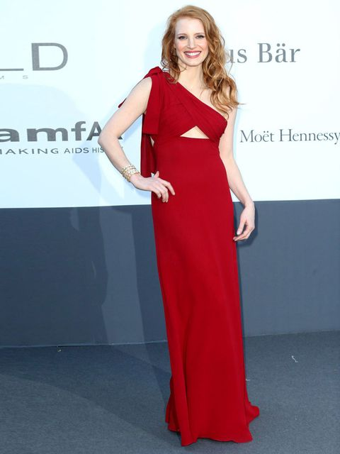 "<p><a href=""http://www.elleuk.com/star-style/celebrity-style-files/jessica-chastain"">Jessica Chastain</a> wears Saint Laurent.</p>"