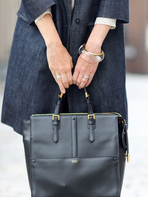 <p>Lorriane Candy – Editor in Chief</p>  <p>Armani bag, Chloe bracelet</p>