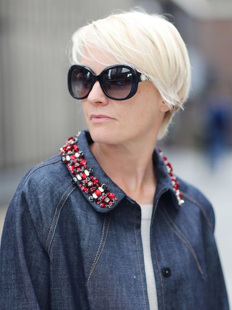 <p>Lorriane Candy – Editor in Chief</p>  <p>Miu Miu coat, Bulgari glasses</p>