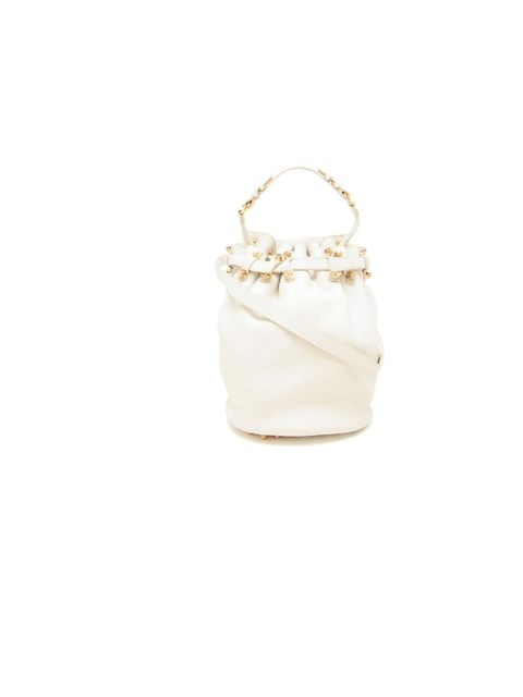 """<p>A little bit rock n' roll and a lot useful, Alexander Wang's 'Diego' bucket bag must have been designed festival fields in mind, £730, at <a href=""""http://www.brownsfashion.com/product/030835700002/134/diego-blistered-leather-bucket-bag"""">Browns Fashion<"""