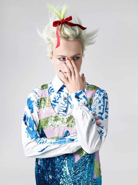 <p>Louise Gray in designs from her Topshop collection</p>