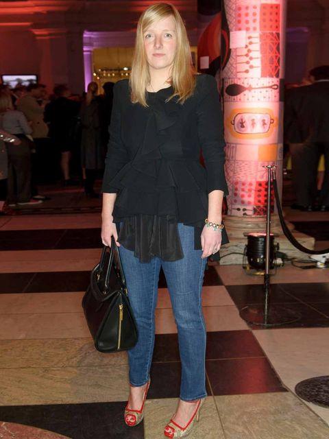<p>Sarah Burton at the V&A opening</p>