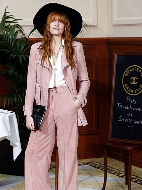 <p>Florence Welch in Chanel at the Chanel a/w 2015 show, February 2015.</p>