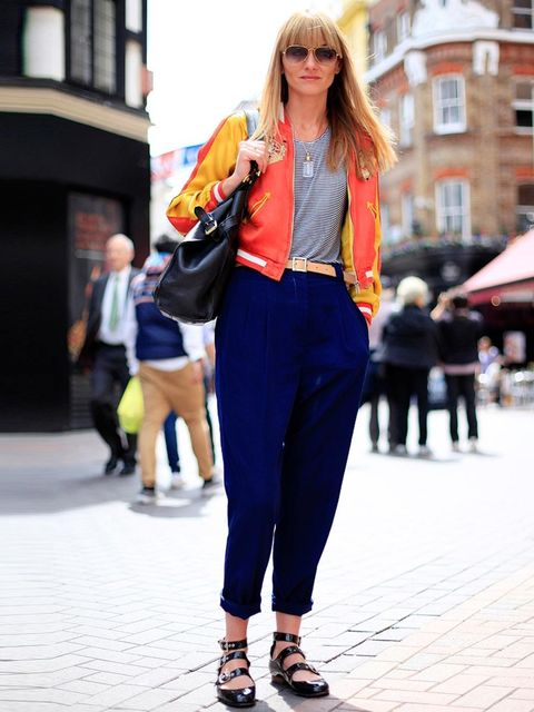 <p>Suzanne, 35, Music Management. Vintage jacket, Victoria Beckham top, American Apparel trousers, Vivienne Westwood shoes, Mulberry bag, Cutler & Gross sunglasses.Photo by Silvia Olsen</p>