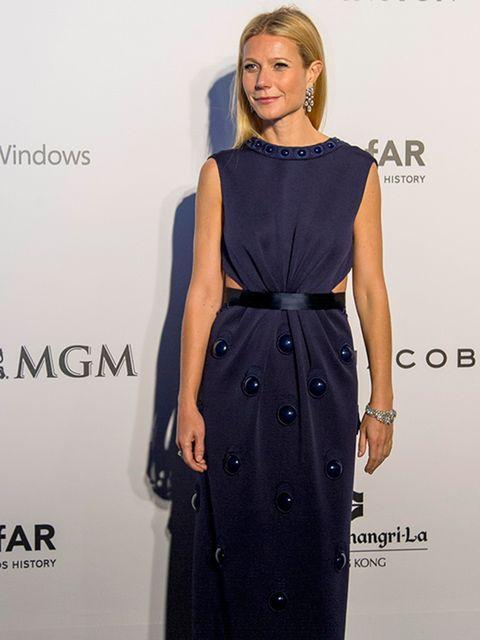 Gwyneth Paltrow attends the amfAR gala in Hong Kong, March 2015.