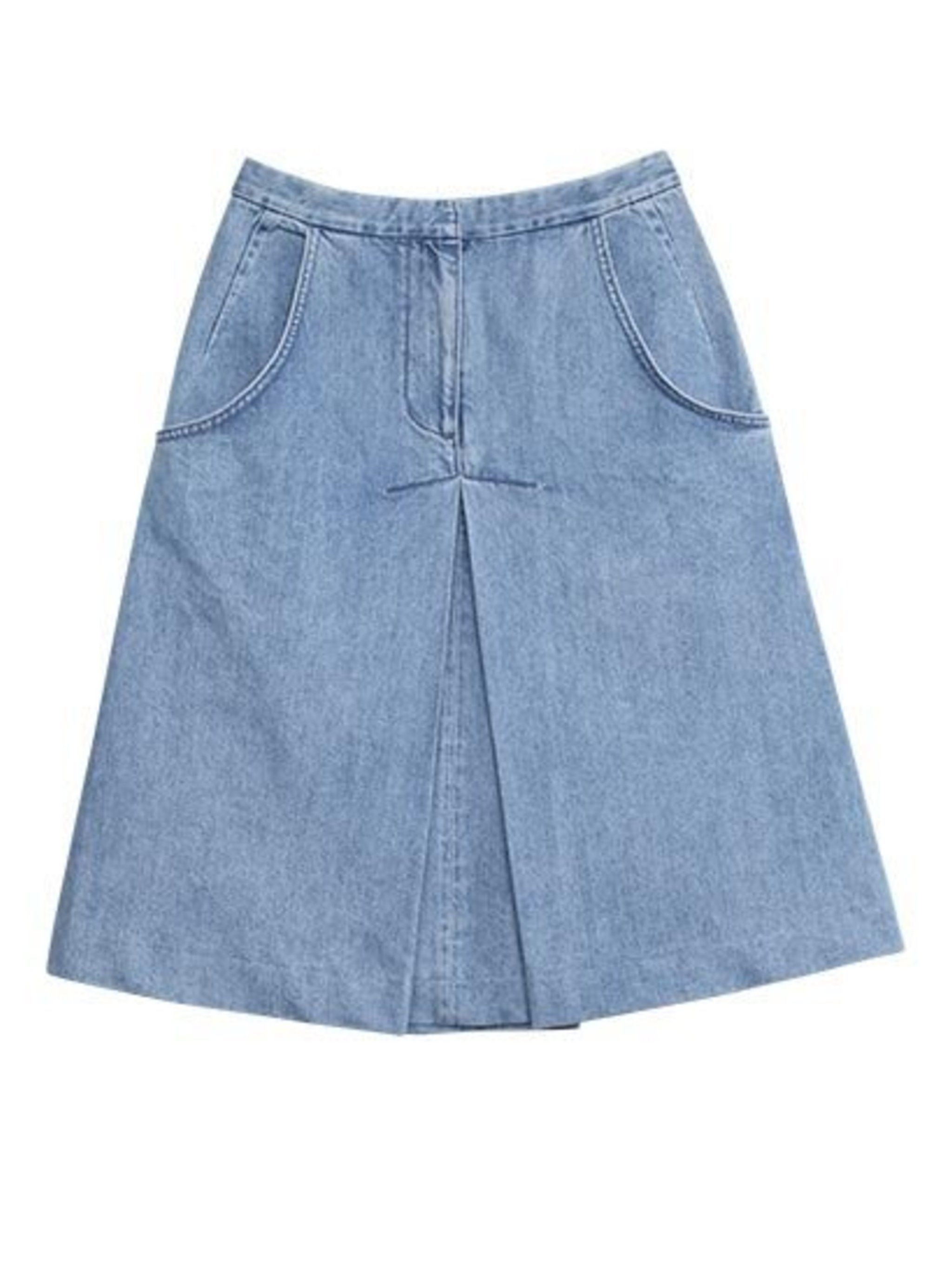 <p>Vika Gazinskaya x & Other Stories denim skirt, £39</p>