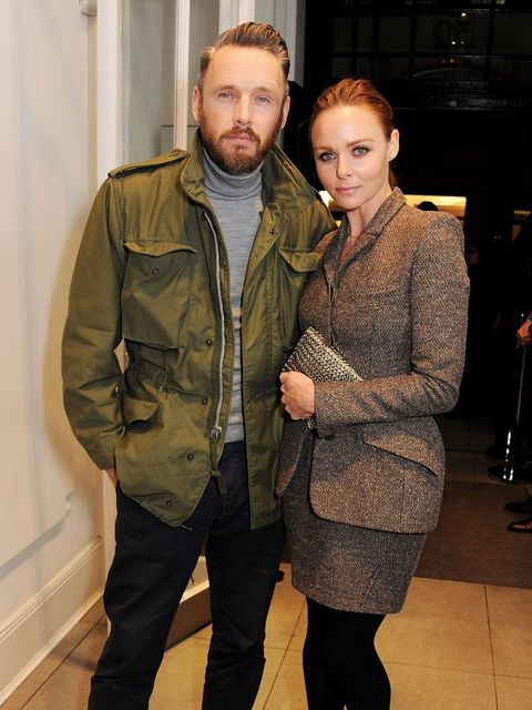 <p>Stella McCartney and husband Alistair Mills</p>