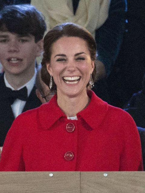 The Duchess of Cambridge, Kate Middleton, was smiling from ear to ear throughout.
