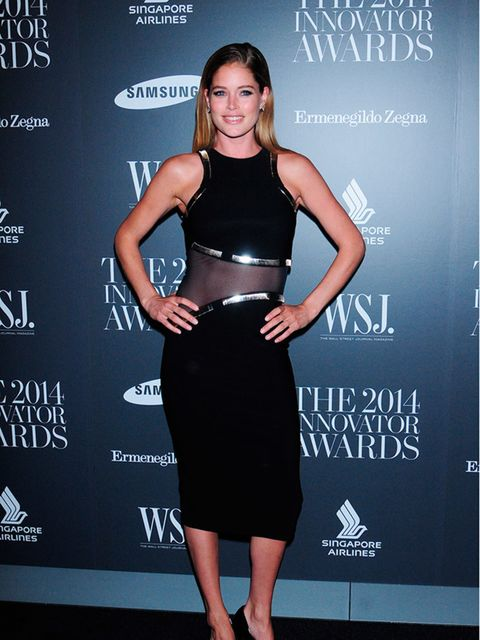 Doutzen Kroes attends WSJ Innovator of the Year Awards in New York, November 2014.