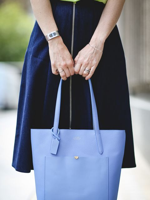 <p>Lorraine Candy, Editor-in-Chief</p>  <p>Whistles T-shirt and skirt, adidas trainers, Smythson bag and Gucci watch</p>