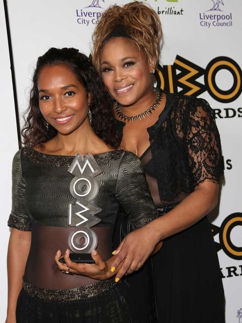 <p>Chilli and T-Boz at the 2012 MOBO Awards</p>