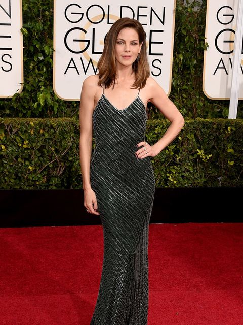 <p>Michelle Monaghan in Jason Wu at the Golden Globe Awards, 2015.</p>