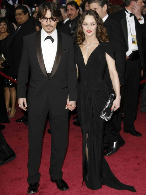 <p>Johnny Depp and Vanessa Paradis, 2008</p>