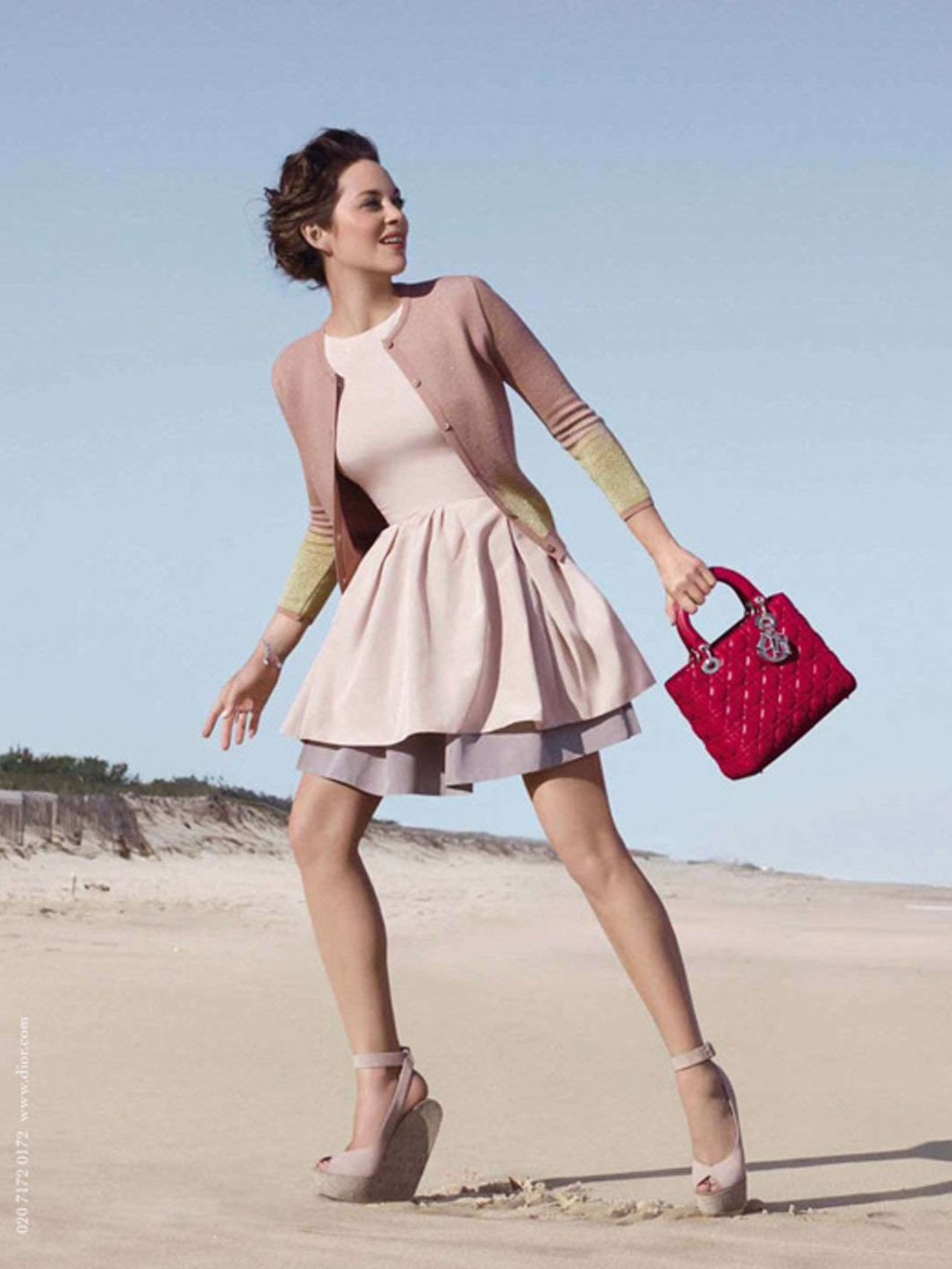 6defafae5abd Hollywood actress Marion Cotillard turns designer for Dior's 'Lady Dior'  handbag line