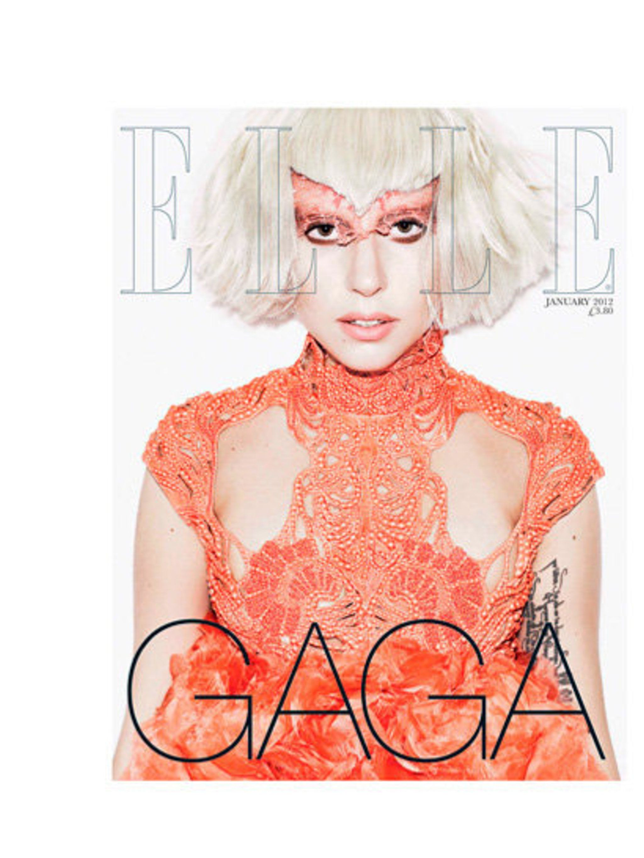 <p>Lady Gaga, Main Cover, January 2012.</p>