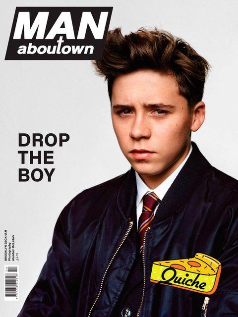 <p>Brooklyn Beckham models for <em>Man About Town</em>, aged 15.</p>