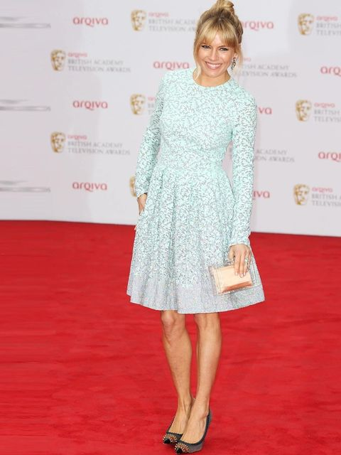"<p><a href=""http://www.elleuk.com/star-style/celebrity-style-files/sienna-miller"">Sienna Miller</a>, who was nominated for her Best Leading Actress for her role in Hitchcock biopic <em>The Girl,</em> wearing <a href=""http://www.elleuk.com/catwalk/designer"