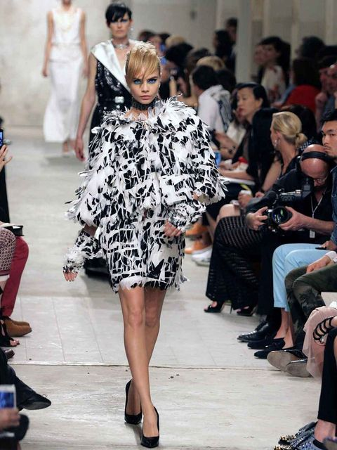 <p>The Make-up Look on the Catwalk</p>