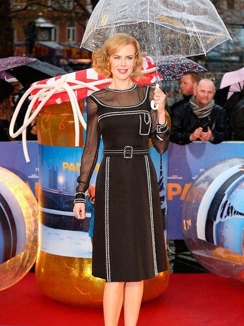 Nicole Kidman wears Prada to the Paddington premiere in London, November 2014.