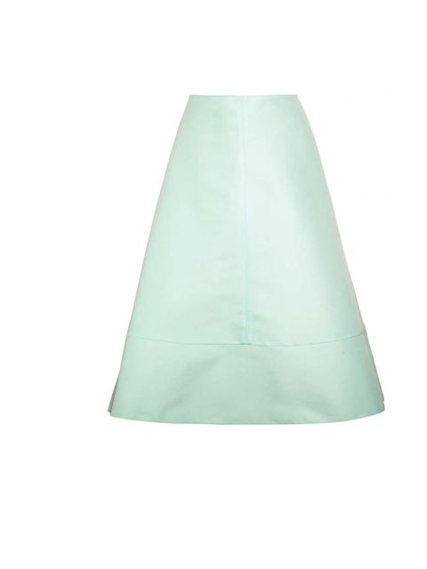 "<p>The colour of this skirt feels so fresh and right for Spring time. The soft organza is romantic but the graphic shape keeps it modern.</p><p>Marni Cotton Silk Organdy Pleated Skirt, £720 at <a href=""http://www.luisaviaroma.com/index.aspx"">Luisa Via Rom"