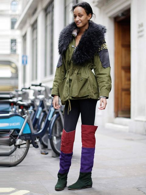 <p>Winter, 23, Graduate. Topshop jacket and boots.</p>
