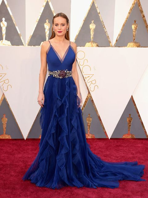 <p>Brie Larson in Gucci at the Oscars in LA, February 2016.</p>