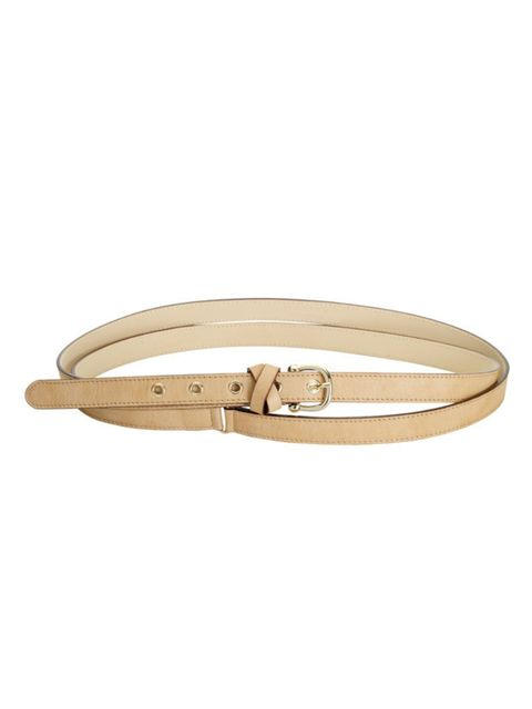 "<p>Nude double wrap belt, £45, by <a href=""http://www.reiss.co.uk/shop/womens/belts/jarrow/caramel/"">Reiss</a></p>"