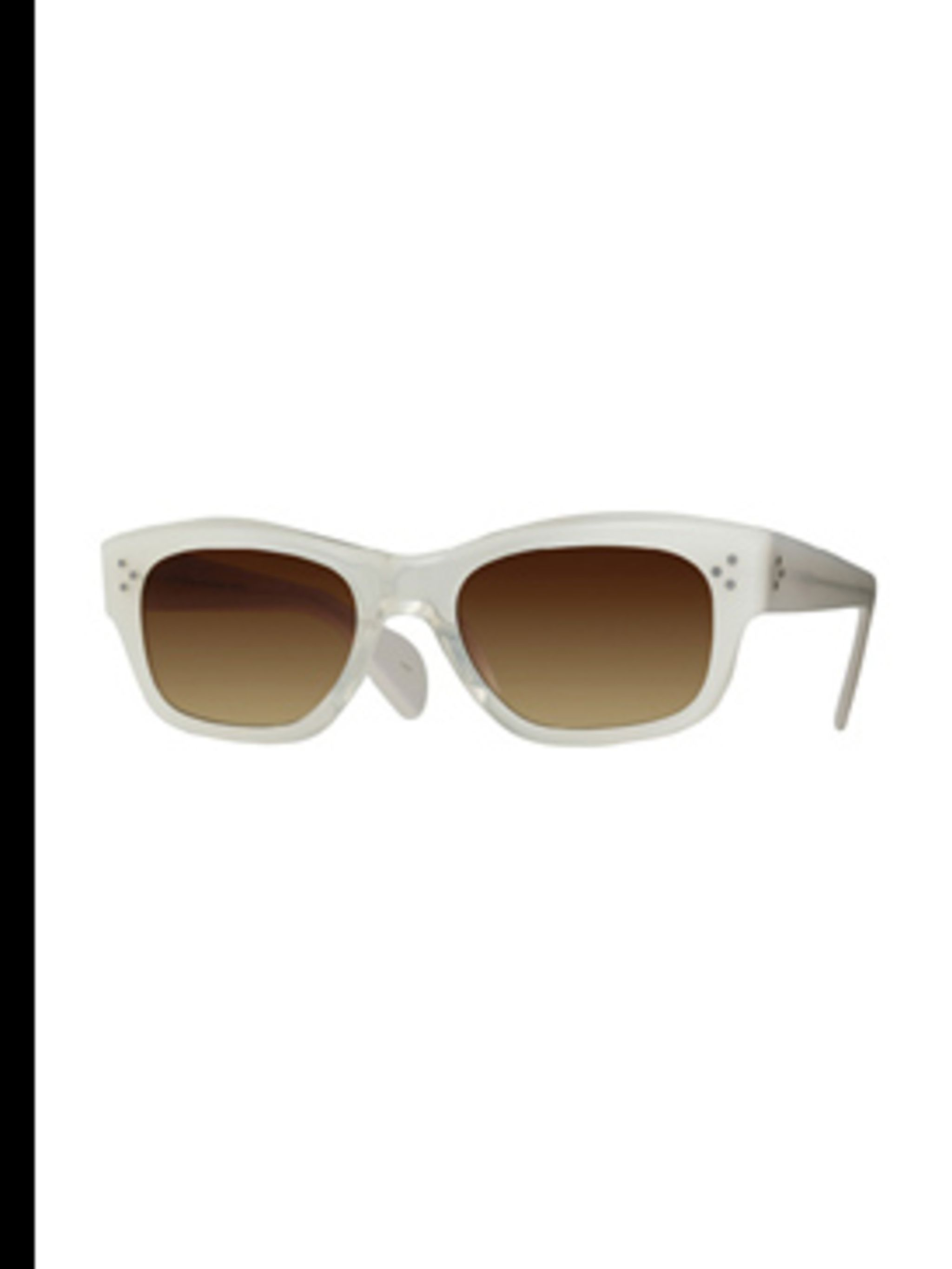 <p>Sunglasses, £150- available on request from David Clulow. For stockists call 0207 486 1485</p>