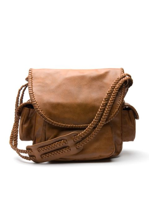 <p>Brown messenger bag, £45, by Mango (0207 434 3694)</p>