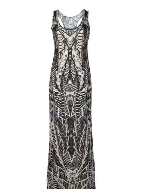 <p>Digital print long dress, £25, by New Look (0500 454 094)</p>